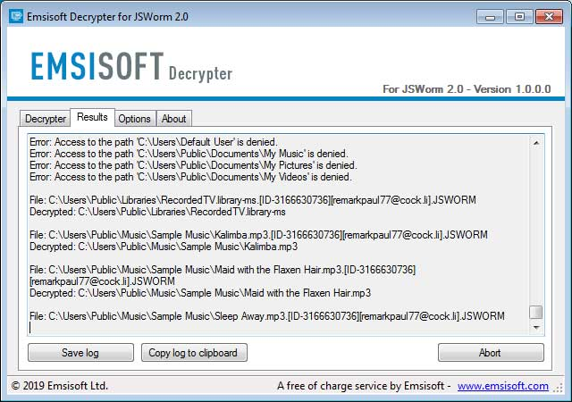 JSWorm 2 0 Ransomware Decryptor Gets Your Files Back For Free