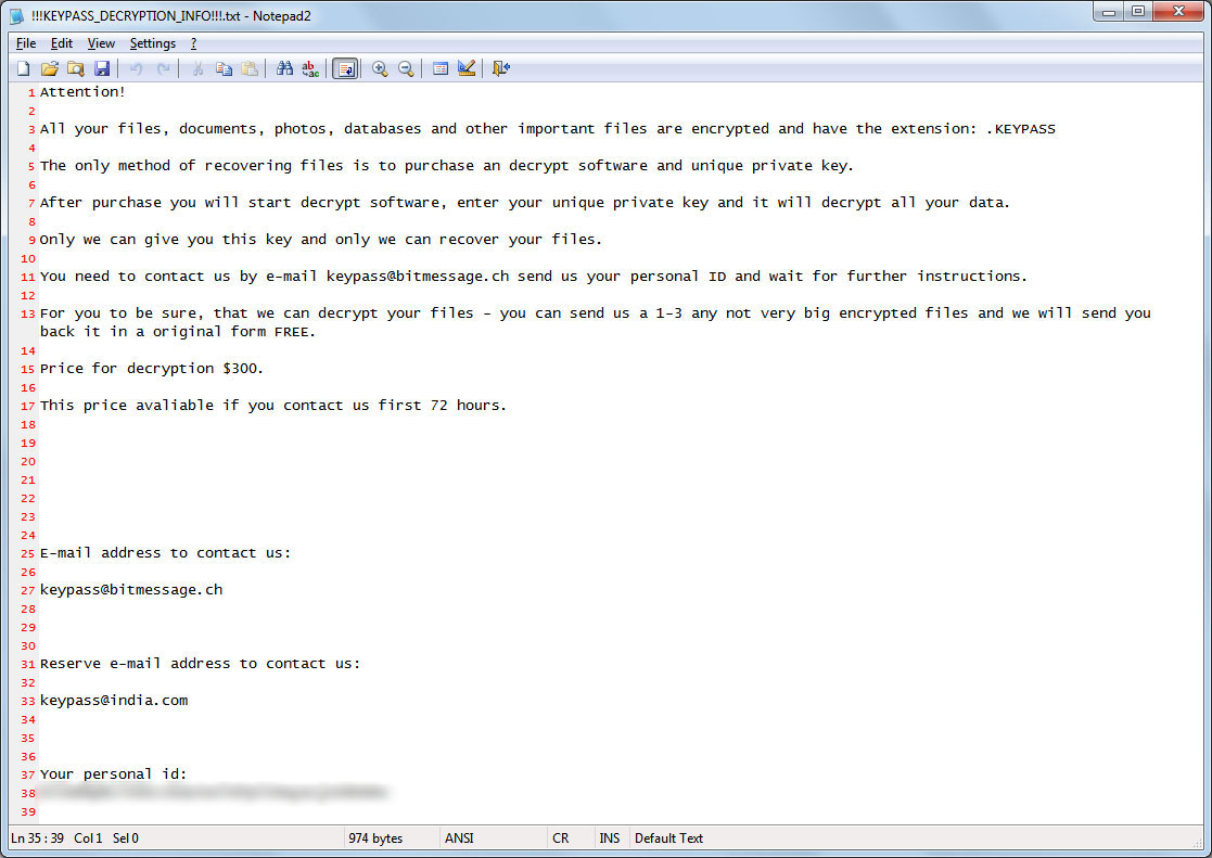 New KeyPass Ransomware Campaign Underway