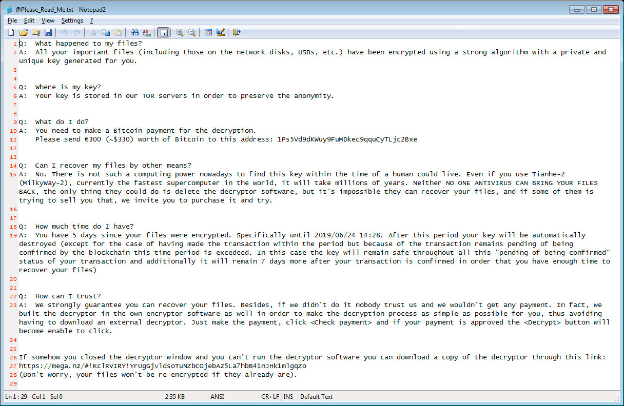 New LooCipher Ransomware Spreads Its Evil Through Spam