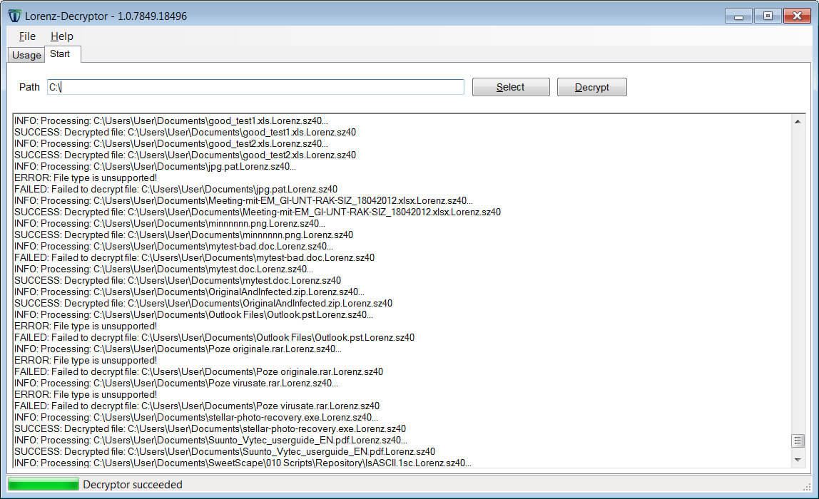Lorenz ransomware decryptor