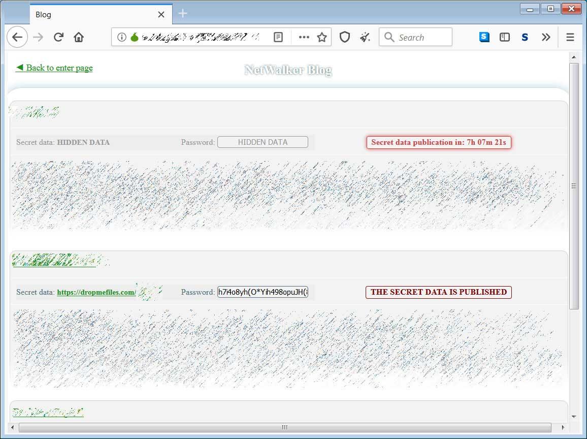 Sitio de fuga de datos de Netwalker