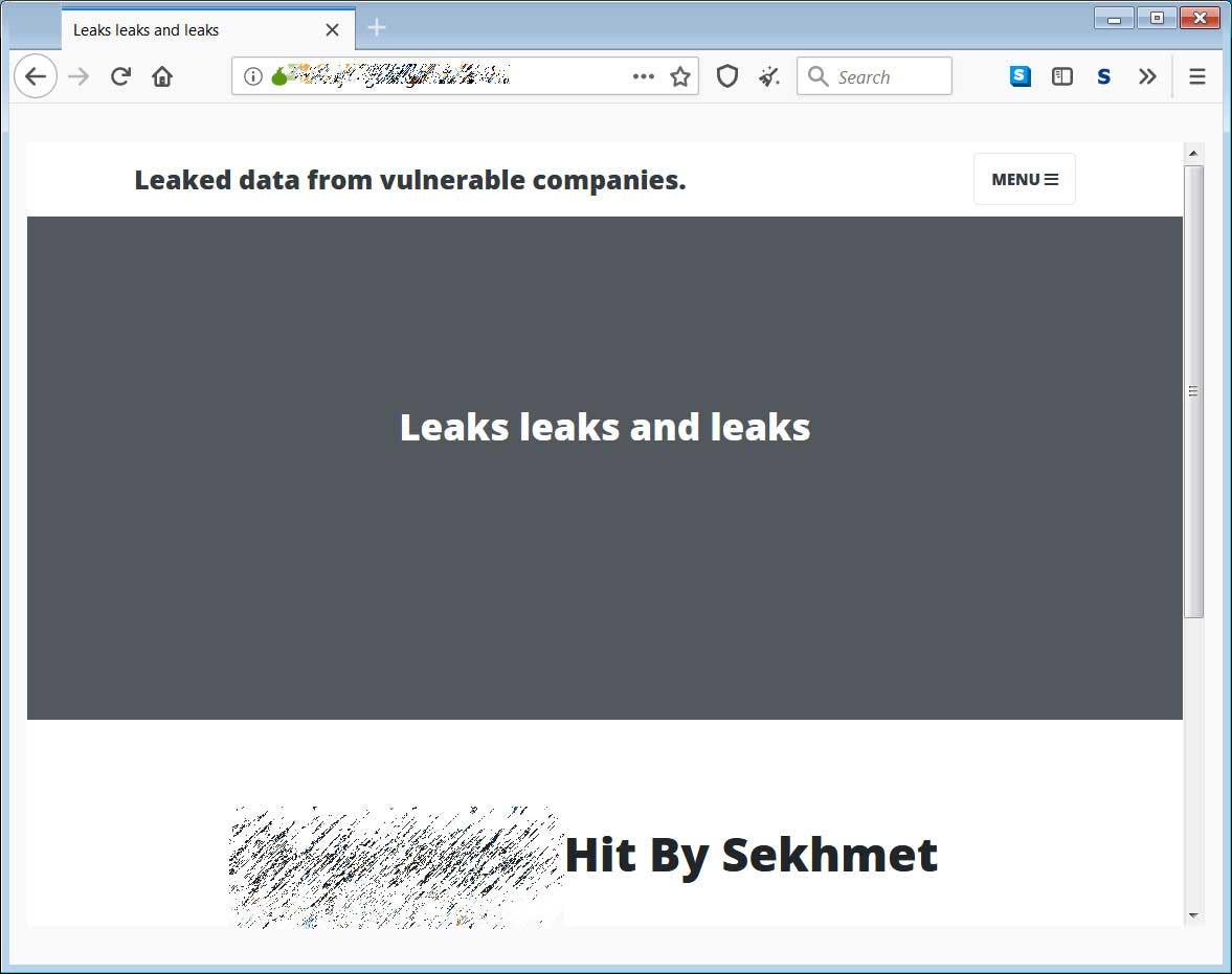 Sekhmet数据泄漏站点