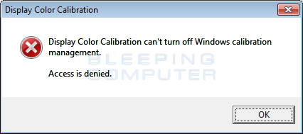 Fake Display Color Calibration Alert