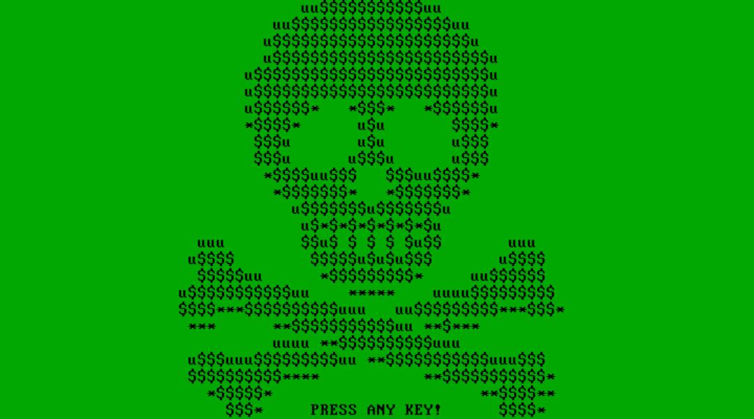 Monster ransomware lock screen