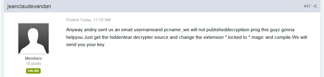 Magic Ransomware Developer Offering Key for Free