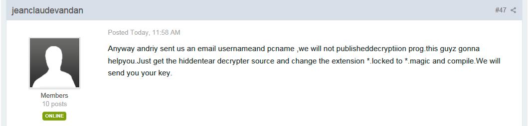 Magic Ransomware Developer Offering Key for Free