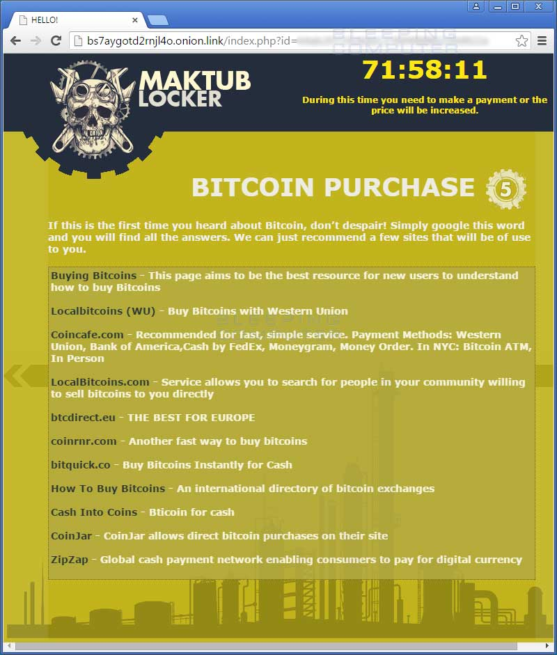 Bitcoin Purchase Page