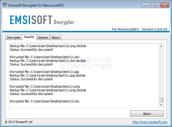 Decrypting Files