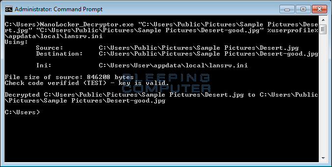 Decrypting a File