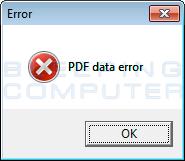 Fake PDF Error