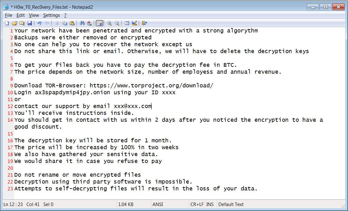 PwndLocker Ransom Note