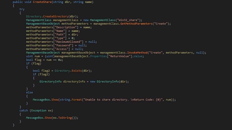 Create Share Code