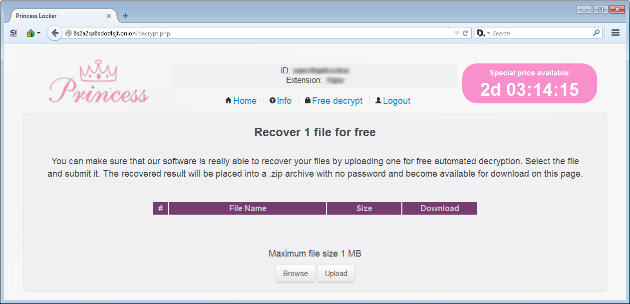 Free File Decryption