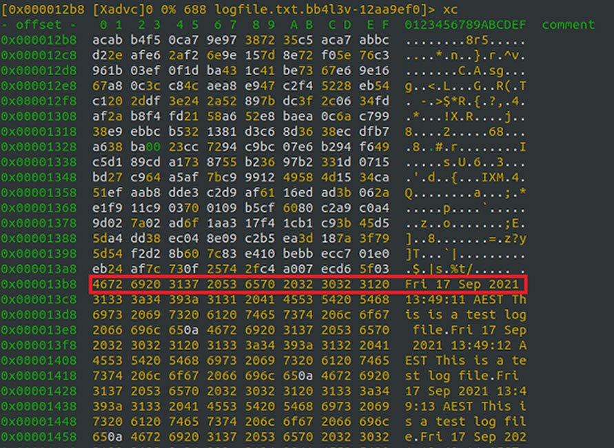 Encrypted file with a mixture of encrypted and unencrypted data