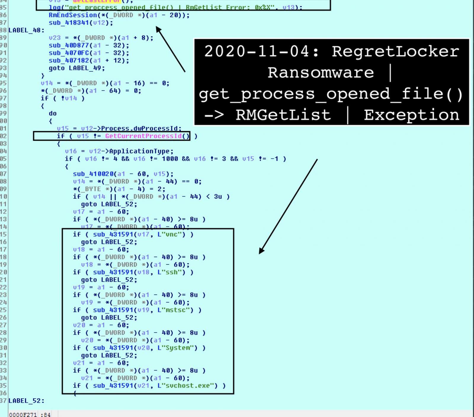 Lista de excepciones del Administrador de reinicio de Windows