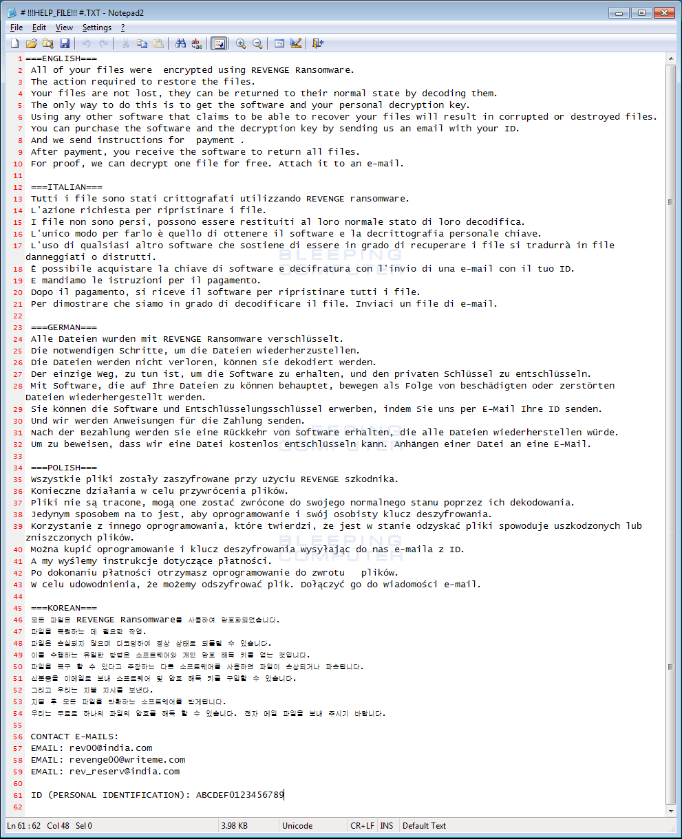 HTML Ransom Note