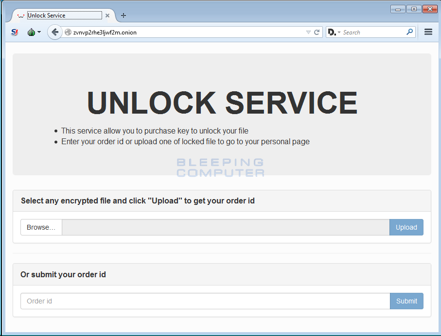 Unlock Service Login