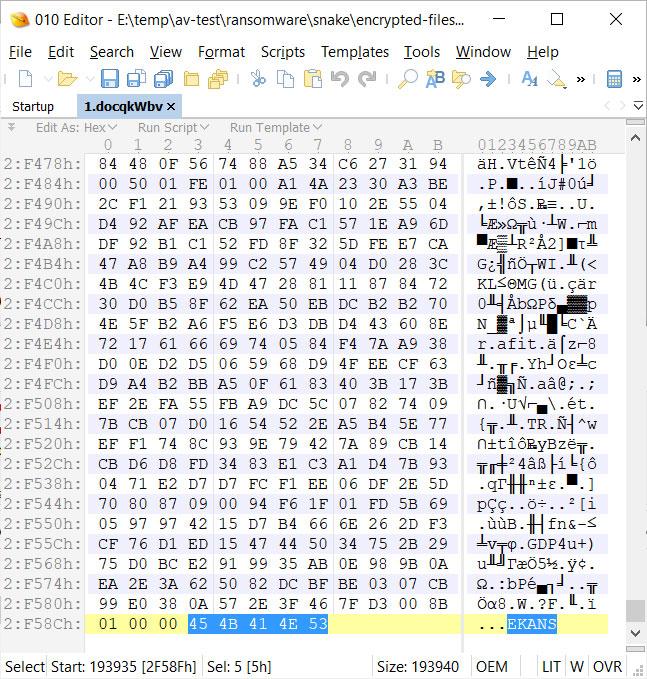 EKANS File Marker