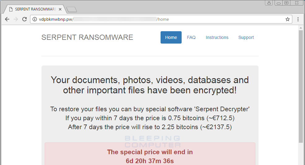 Serpent Ransomware Wants to Sink Its Fangs Into Your Data