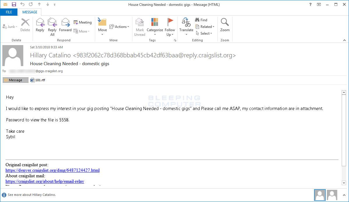 Malspam Email