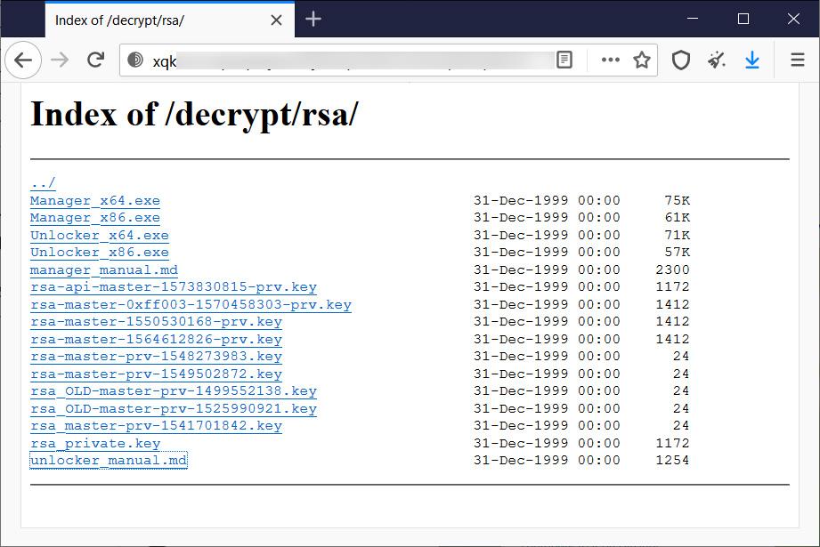 Các khóa giải mã chính SynAck do các tác nhân đe dọa phát hành