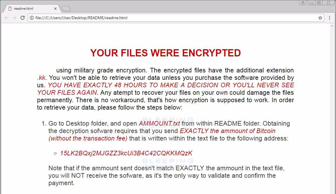 SyncCrypt Ransomware Hides Inside JPG Files, Appends  KK Extension