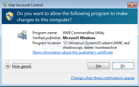 WMIC Shadow Copy Deletion