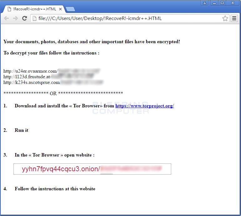 TeslaCrypt 4.2 Ransom Note