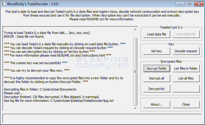 TeslaCrypt shuts down and Releases Master Decryption Key