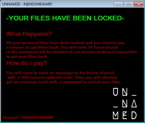 UNNAM3D Ransomware Locks Files in Protected Archives