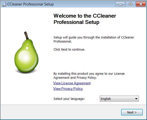 CCleaner installer