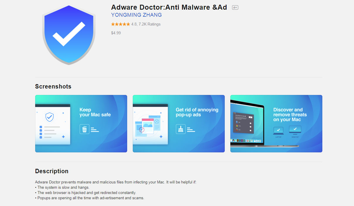 Adware Doctor Mac Store Page