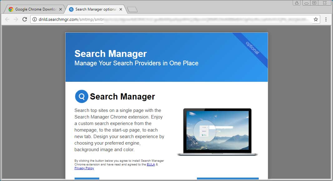 Install Search Manager Extension Prompt