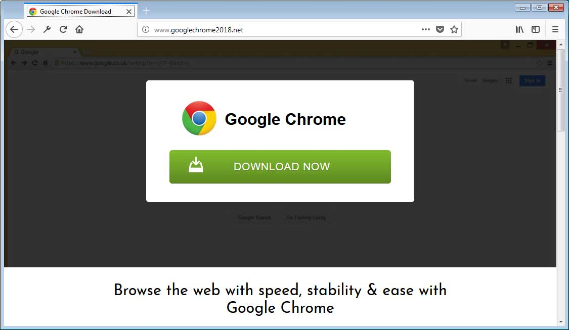 Chrome PUP/Adware Bundle Download Site