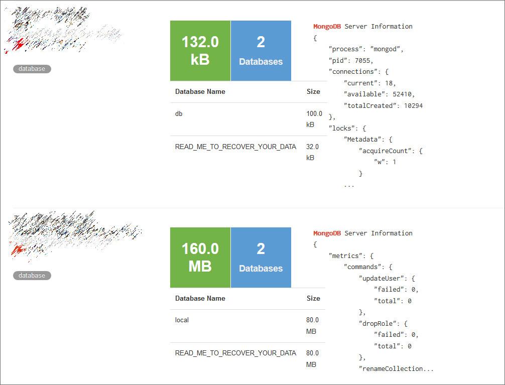 Shodan上的Ransomed MongoDB服务器