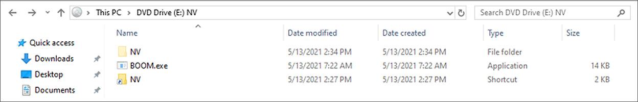 Contenido del archivo ISO NV.img