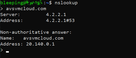 DNS lookup of C2