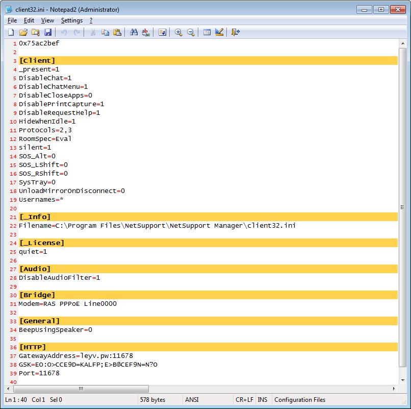 NetManager Configuration File