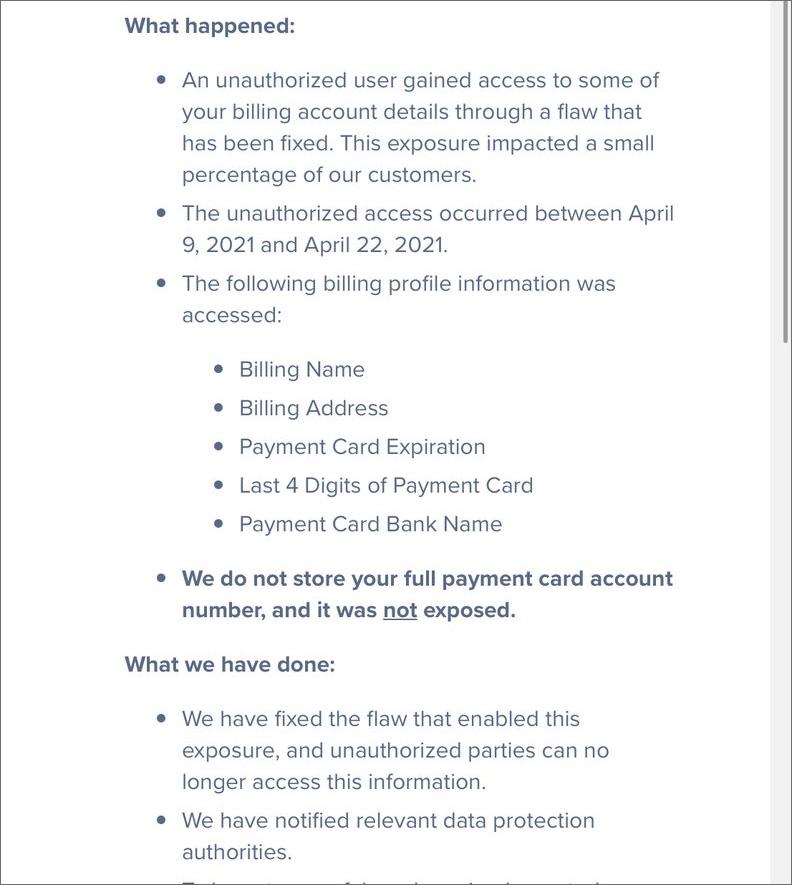 DigitalOcean data breach email
