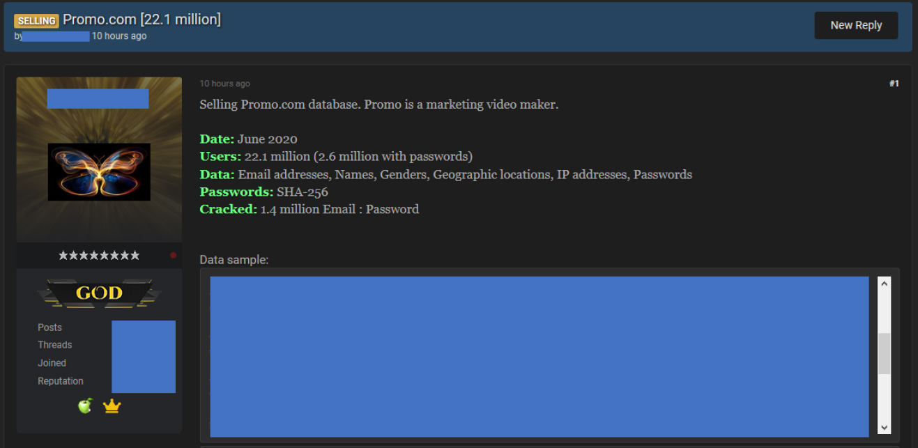 Promosyon veritabanı sızıntısı