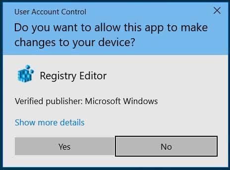Windows UAC prompt