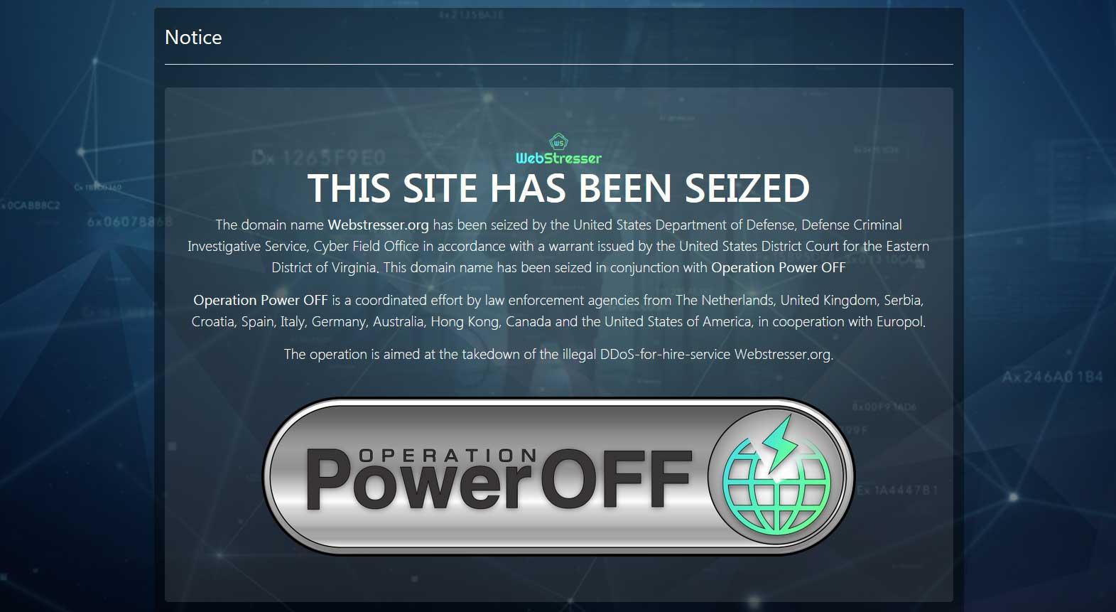 Notice on Webstresser.org