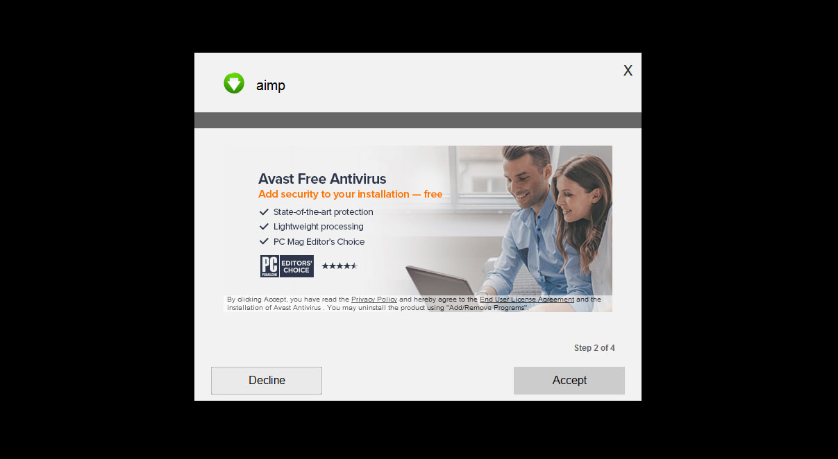 avast fake antivirus removal