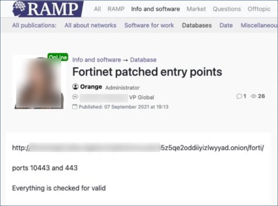 Post on the RAMP hacking forum