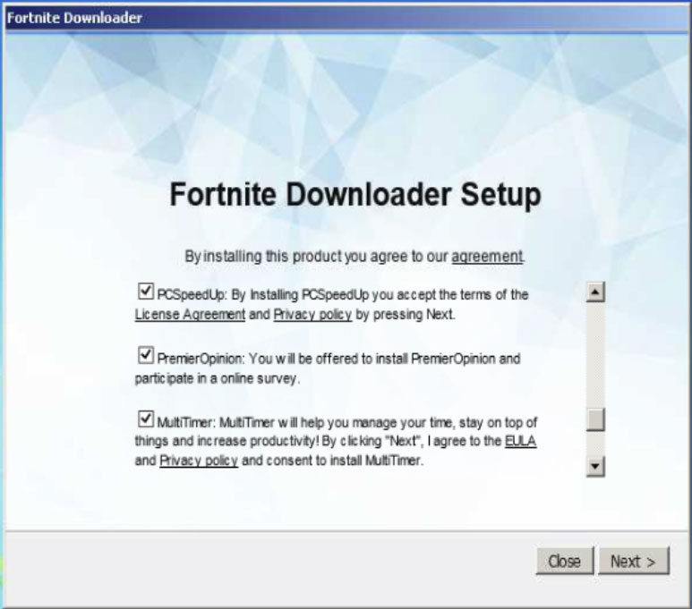 fake-downloader 5 Examples of How Cheating in Fortnite Gets You Infected