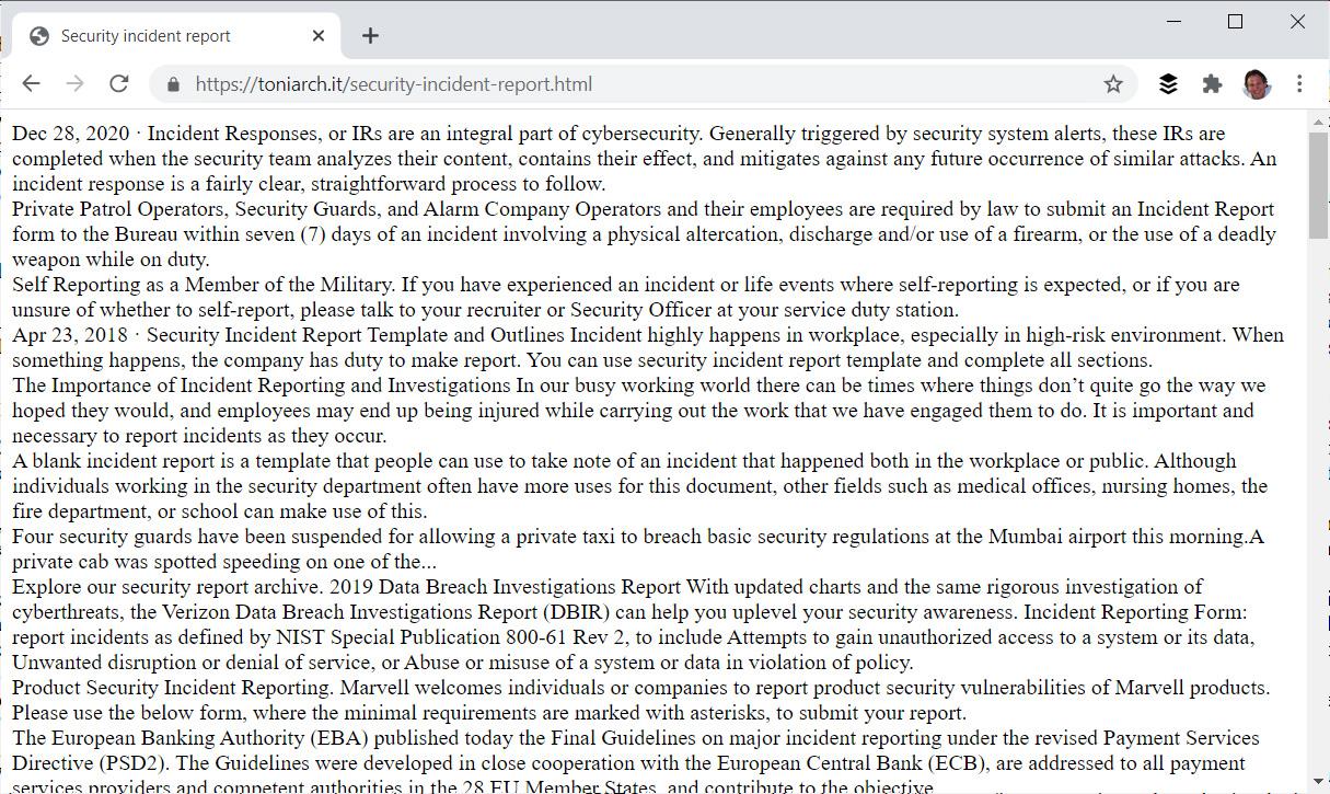 Sitio fraudulento que muestra texto cuando lo visita desde un agente de usuario de GoogleBot